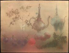 "Kaiko Moti ""Pomegranates"" Hand Signed Fine Art Etching still life MAKE OFFER!"