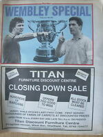 NEWSPAPER SHEFFIELD WEDNESDAY v MANCHESTER UNTED CUP FINAL WEMBLEY SPECIAL 1991