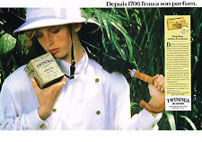 PUBLICITE ADVERTISING   1988   TWININGS OF LONDON   thé  Darjeeling (2 pages)