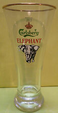 ANCIEN VERRE A BIERE CARLSBERG  ELEPHANT  25 CL , A GROS PIED , CA43 *