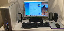 Dell Inspiron 530s W/ Monitor Keyboard Speakers Mouse Router Complete Office