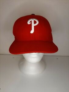 Philadelphia Phillies 59fifty on field cap fitted hat mlb baseball red Size 7