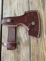 Custom Hand Made Pure Leather Sheath For Axe & Hatchets -qx