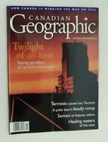 Canadian Geographic Magazine Sept/Oct 1997 Twilight of  Icon Prairie Skyscrapers
