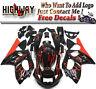 E Fairings For Yamaha YZF600R thundercat 97-07 ABS Fairing Kit Black Red Flames