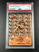 SHAQUILLE O'NEAL SHAQ 1992 FLEER ULTRA #7 ALL ROOKIES RC PSA 9 NBA HALL OF FAMER