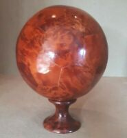 Solid Wood Ornamental Football or Ball on Stand 20 x 15 cms