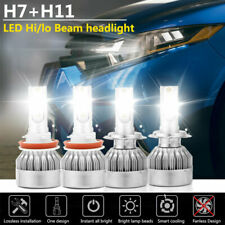 Combo H7+H11 LED Headlight Kit Bulb Hi/Lo Beam Fog Light For Ford Fusion 2006-18