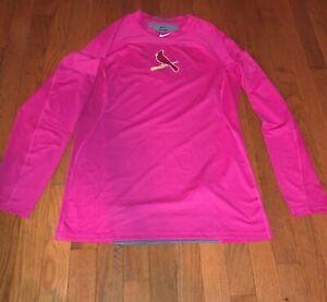 St Louis Cardinals Nike Pro Hypercool Shirt Baseball Medium M Pink Mothers Day