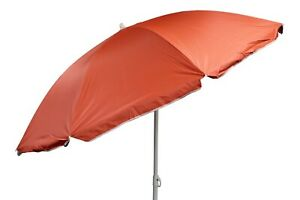 Bright Parasol Garden Umbrella Beach Shade Orange With UV protection 50+ Tilting