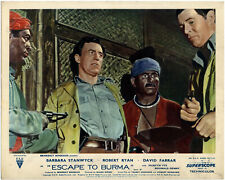 ESCAPE TO BURMA 1955 David Farrar, Robert Ryan 10x8 LOBBY CARD