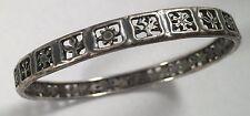 Rare Vintage James Avery Figures Sterling Silver Bangle Bracelet