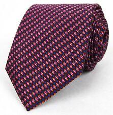 New Gucci Dark Purple Red Striped Woven Silk Tie 351810 5174