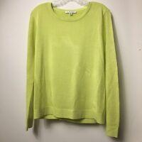 CABI Yellow Split-Back Mesh Lightweight Pullover Sweater Style 199 Medium