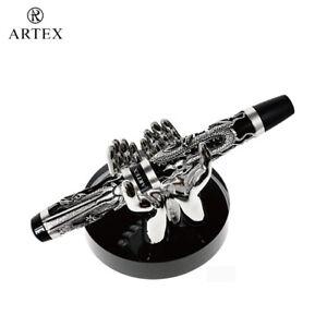 ARTEX 2 Hands Pen Stand , Stylish Pen Accessory, Metal , Desktop , X'mas Gift,