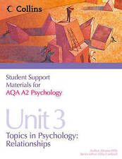 Student Support Materials for Psychology - AQA A2 Psychology Unit 3: Topics in P