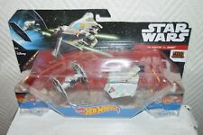 2 VAISSEAU HOT WHEELS STAR WARS REBEL TIE FIGHTER VS GHOST  NEUF VEHICLES