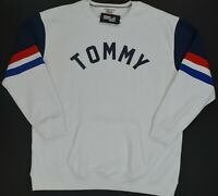 NWT Men's Tommy Hilfiger Crew Neck Pullover Sweater Sweatshirt White  reg $ 100