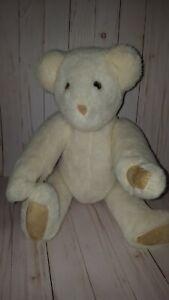 "THE VERMONT TEDDY BEAR CO Vintage 1992 cream Bear Jointed 21"" plush"