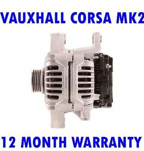 Fits VAUXHALL CORSA MK2 MK II 1.4 1.6 2000 2001 2003 2004 - 2006 RMFD ALTERNATOR