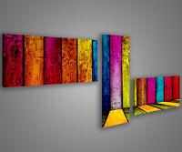 Quadri moderni astratti 180 x 70 stampe su tela canvas con telaio MIX-S_130
