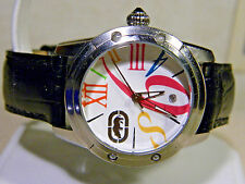 Marc Ecko Luck Rhino Pop Art Big Bright Number Diamond Watch. 1 Year Warranty!