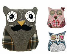 Luxury Retro Owl Filled Cushions Patterned Mr Owl Cheeky Owl Closed Eyes Owl