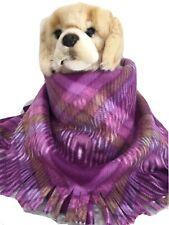 LAVENDER  PLAID,Fuzee Fleece Dog Blankets,Soft Pet Blanket Travel Throw