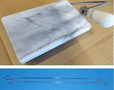 2x Ersatzdraht für Marmor-Käseschneidebrett Käseschneidedraht 145mm lang,