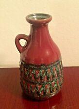 DDR Keramik VEB Strehla Vase Form 1310 rot red green  East German Pottery GDR