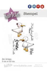 """Kulricke Stempelset """"Moin Möwe"""" Clear Stamp"""