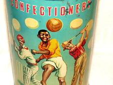 English Empire Kenya Sports Golf Cricket Soccer Confectionary Candy Tin 1930s