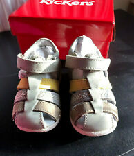 White Sandals KICKERS Babies/' Toddlers/' BONBEK Leather Shoes inf UK 3-8.5