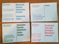British Rail Pocket Timetable x 4. Northern to various stations 1964. Rare.