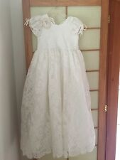 NWT Monalisa Dollcake Maxi Lace dress size 12 ivory