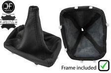 BLACK STITCH LEATHER SHIFT BOOT+PLASTIC FRAME FOR PONTIAC FIREBIRD CAMARO 97-02