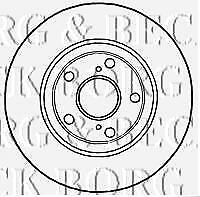 FRONT  BRAKE DISCS PAIR FOR TOYOTA GENUINE OE BORG & BECK  BBD4745