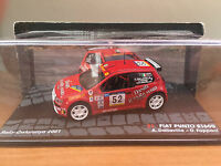"DIE CAST "" FIAT PUNTO S1600 RALLY CATALUNYA 2001 N°52"" PASSIONE RALLY SCALA 1/43"