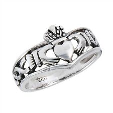 Sterling Silver .925 Claddagh Love Loyalty Infinity Weave Ring Sizes 3-10