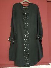 Muslim Women  Long  Dress  Islamic pearl Abaya L/XL