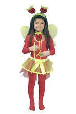 Apfel Kostüm Kinder grün Äpfelchen Obstkostüm Set Mädchen Karneval Fasching