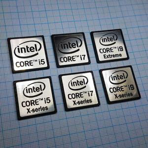 Intel Core i5 i7 i9 X-Series Extreme Sticker Badge Aluminum - Metallic