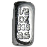 0,5 1/2 onza calavera plata fina 999 lingote de plata Atlantis MONEDA AG RARO