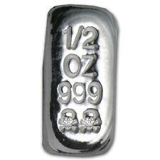 0,5 1/2 oz Totenkopf Skull 999 Feinsilber Silberbarren Atlantis Mint AG Selten
