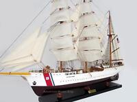 """US Coast Guard Eagle Tall Ship Assembled 37"""" - Built Wooden Model"""