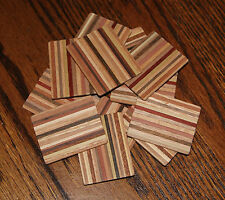 """OLD EDNA""""S Dollhouse Miniature Cutting Bread Boards  Variegated Wood  12 Pieces"""