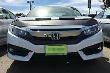 Honda Civic 2016-2019  Hood Bra Plain Black Bonnet Protector