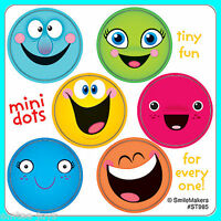 Smiley Face Stickers - 48 Dots - 8 Sheets - Reward Charts Favours Teachers SMILE