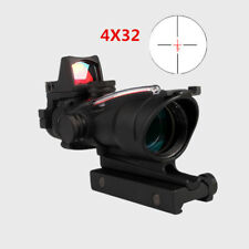 ACOG 4X32 Real Red Fiber Illuminated Source band RMR Red Dot Scope