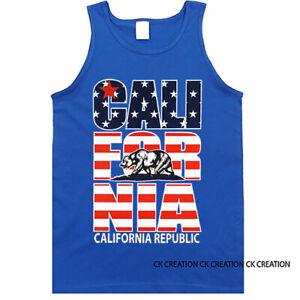Cali Bear California Republic Graphic Tank Top